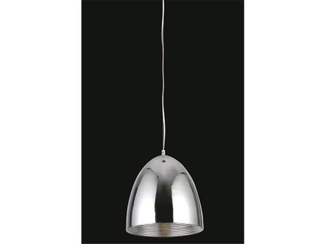 Elegant Lighting Industrial Collection Pendant lamp D-7.85in H-51in Lt-1 Chrome Finish-PD1243