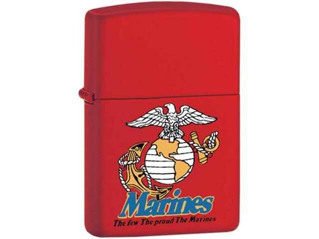 Fox Outdoor 86-233 Marines The Few The Proud Zippo Lighter - Red Matte