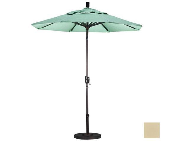 March Products GSPT758117-5422 7.5 ft. Aluminum Market Umbrella Push Tilt - Bronze-Sunbrella-Antique Beige
