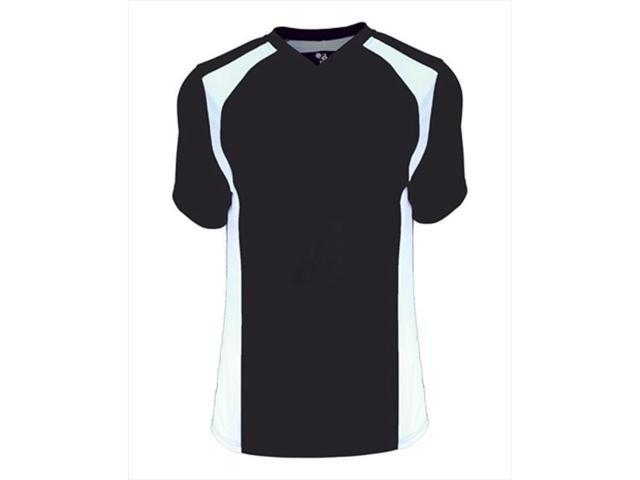Badger 6171 B-Core Ladies Triple Play Contrast Panel Athletic Jersey - Black & White, Large
