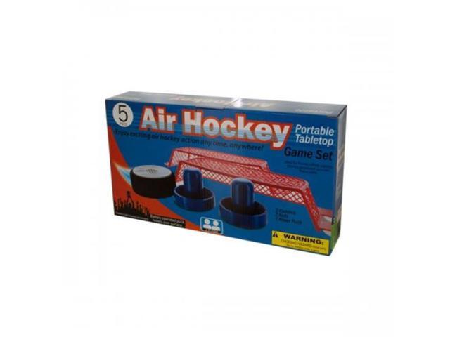 Bulk Buys Od512 Portable Tabletop Air Hockey Game Set