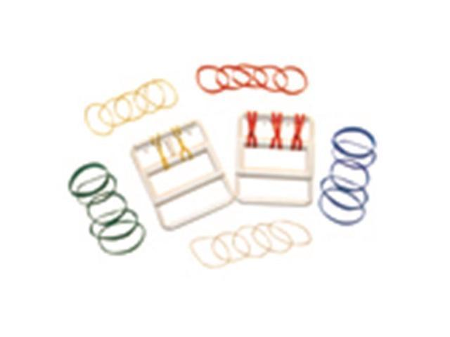 Fabrication Enterprises 10-1865 Cando Latex Free Rubber-Band Hand Exerciser With 25 Bands