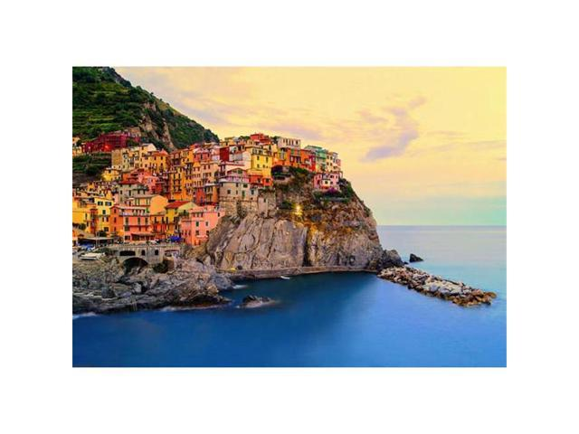 Brewster Home Fashions DM130 Cinque Terre Coast Wall Mural - 100 in.