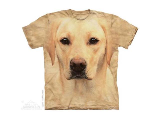 The Mountain 1081461 Yellow Lab Portrait T-Shirt, Medium
