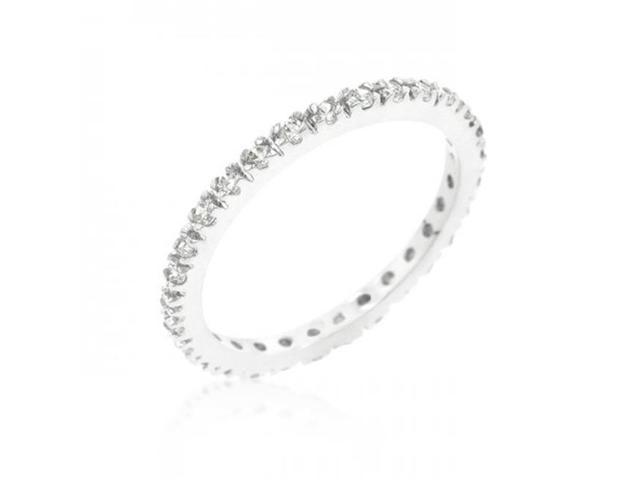 Icon Bijoux R08340R-C01-10 Simple Eternity Band (Size: 10)