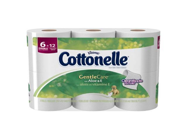 Cottonelle 36090 6 Pack Gentle Care 1Ply Tissue, Pack Of 8
