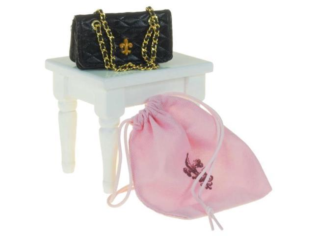 The Queens Treasures AGDHB-B Black Quilted Handbag, Doll Clothes Accessory For 18 in. Dolls
