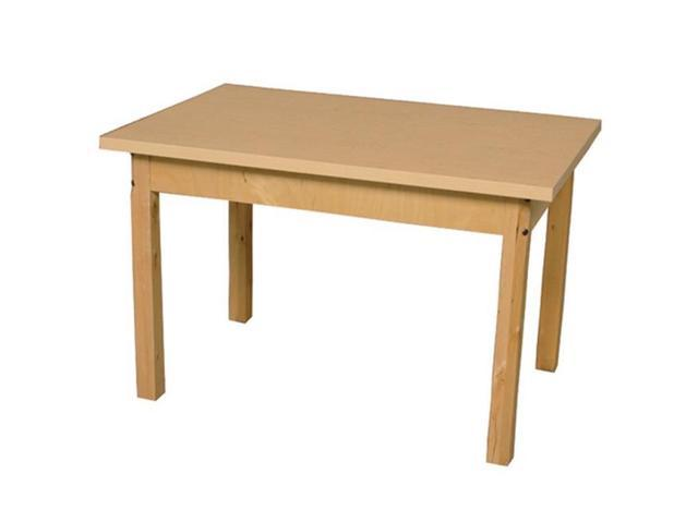 Wood Designs HPL307218C6 Mobile Rectangle High Pressure Laminate Table With Hardwood Legs, 18 in.
