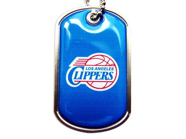 Los Angeles Clippers Team Logo Pet Dog Tag ID Domed Necklace Neck Tag Charm Chain