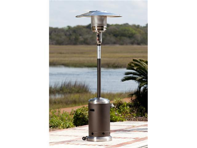 WT Living Mocha and Stainless Steel Commercial Patio Heater