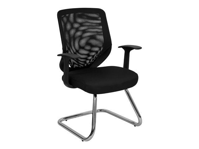 Flash Furniture Black Mesh Back Office Side Chair with Mesh Fabric Seat [LF-W953-BK-GG]