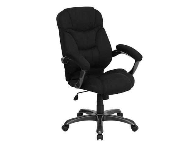 Flash Furniture High Back Black Microfiber Upholstered Contemporary Office Chair