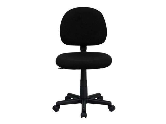 Flash Furniture Mid-Back Ergonomic Black Fabric Task Chair [BT-660-BK-GG]