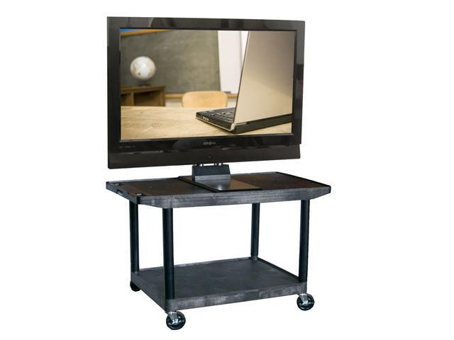 Luxor LE27WTUD 2 shelves Wide Top AV Cart with LCD Mount Black