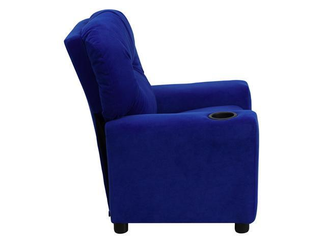 Flash Furniture Contemporary Blue Microfiber Kids Recliner with Cup Holder [BT-7950-KID-MIC-BLUE-GG]