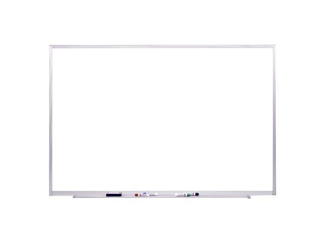 Ghent Magnetic Painted Steel Whiteboard with Aluminum Frame, 4'H x 6'W