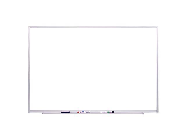 Spectra 4'X6' Aluminum Frame Magnetic Markerboard w/ 4 Markers & Eraser