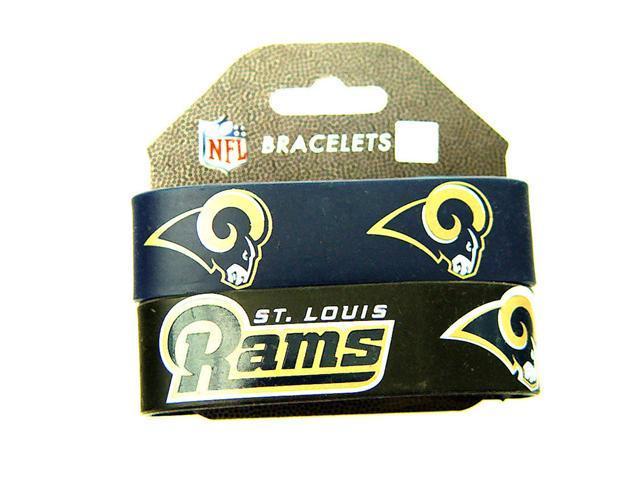 NFL St Louis Rams  Rubber Wrist Bands Bracelets  Set Of 2