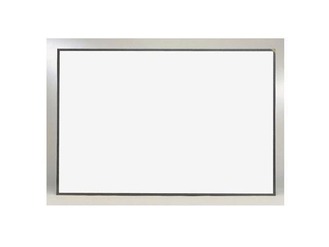 Ghent 4' x 12' Feet Magnetic Image Trim Porcelain Markerboard Aluminum Framed With Graphite Fleck Frame