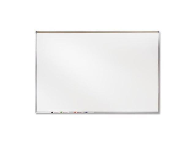 """Ghent 4' X 6' Feet Proma Porcelian Multimedia Boards Aluminum Framed Magnetic Projection / Markerboard With 1"""" Maprail"""