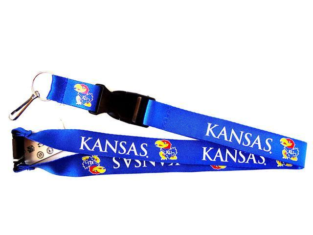 Kansas Jayhawks Clip Lanyard Keychain Id Holder Ticket - Blue