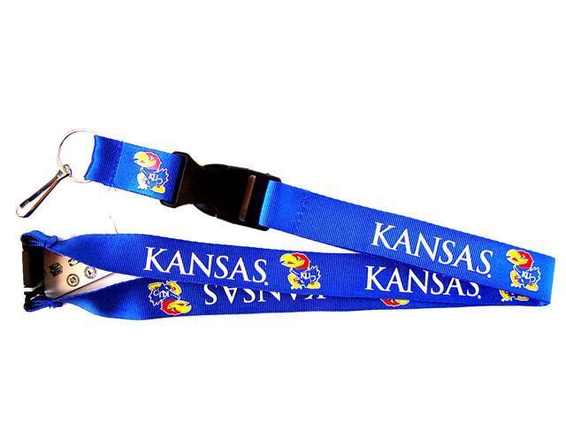 Kansas Jayhawks Clip Lanyard Keychain Id Holder Ticket - Blue