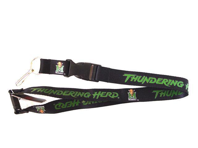 Marshall Thundering Herd New Lanyard Keychain Id Holder