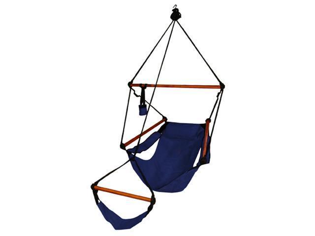 Hammaka hammock chair with wood dowels - midnight blue