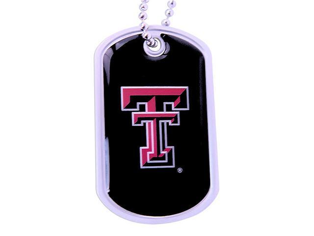 Red Raiders Dog Tag Necklace Charm Chain