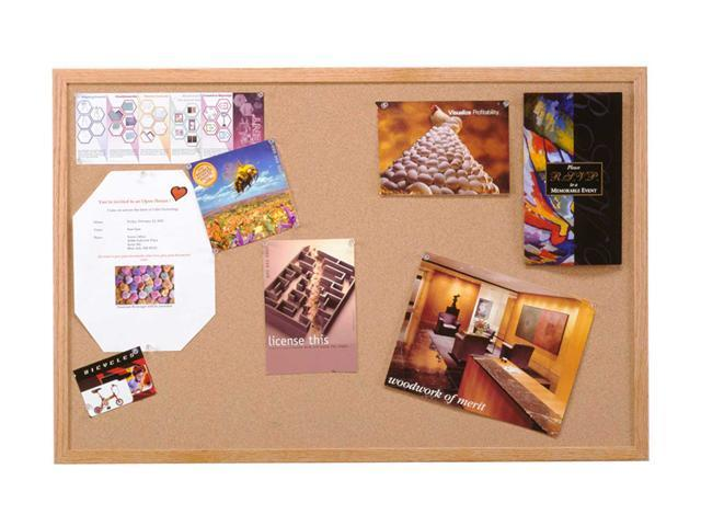Ghent 18 x 24 inch Home Decor natural Cork Bulletin Board With Wood Frame