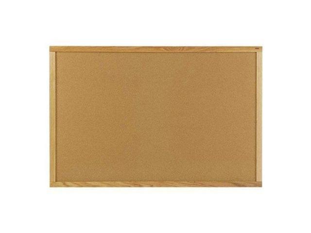GHENT WK45 Bulletin Board, Cork, Wood Frame, 60x48