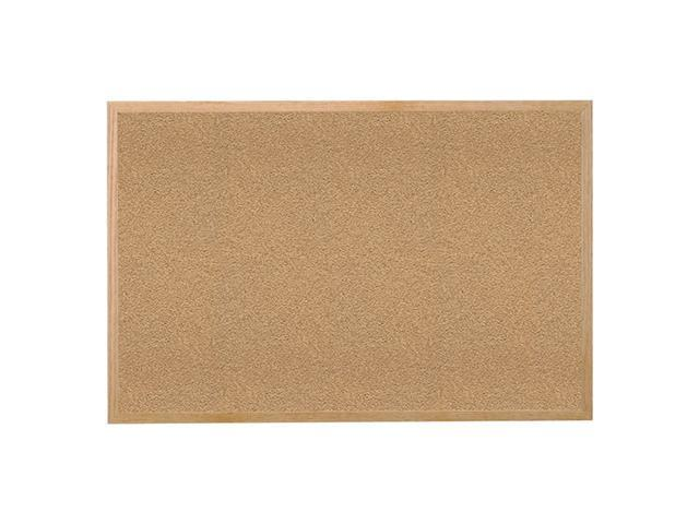 Ghent Natural Cork Bulletin Board with Wood Frame, 4'H x 8'W