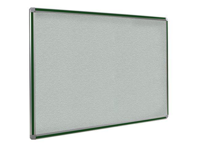 Ghent 3x4 DecoAurora Aluminum Frame Stone Vinyl Tackboard - Hunter Green Trim