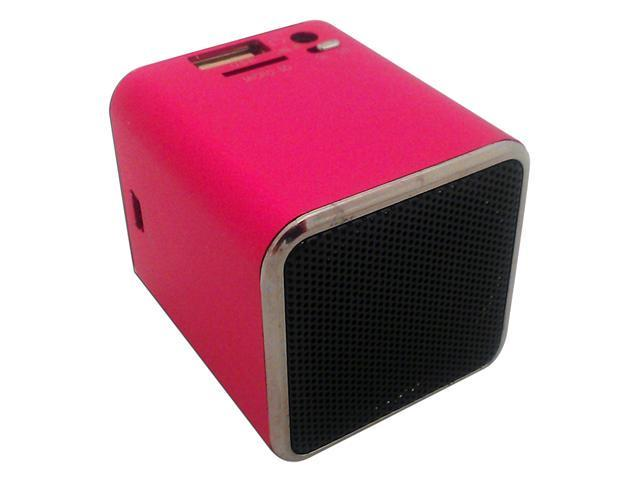 Professional Cable Pink SnowFire Portable Cuboid Shape Stereo Speaker for iPod / iPad / iPhone & MP3 Electronic Gadgets with Rechargable Battery