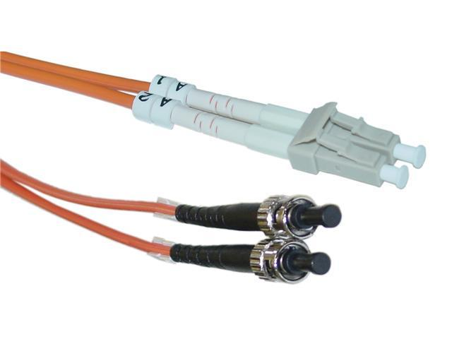 Cable Wholesale LC / ST Multimode Duplex Fiber Optic Cable 62.5/125 - 3 Meter (10ft)