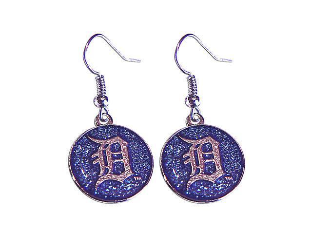 MLB Detroit Tigers Glitter Sparkle Dangle Logo Earring Set Charm Gift