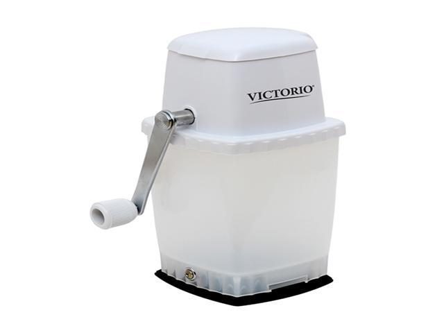 Victorio Timeless Home Ice Crusher Machine with Safety lid (White) - Strong Base