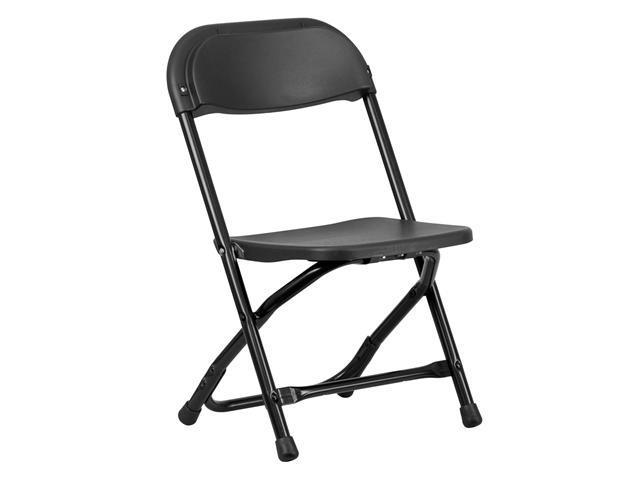 Flash Furniture Kids Black Plastic Folding Chair [Y-KID-BK-GG]