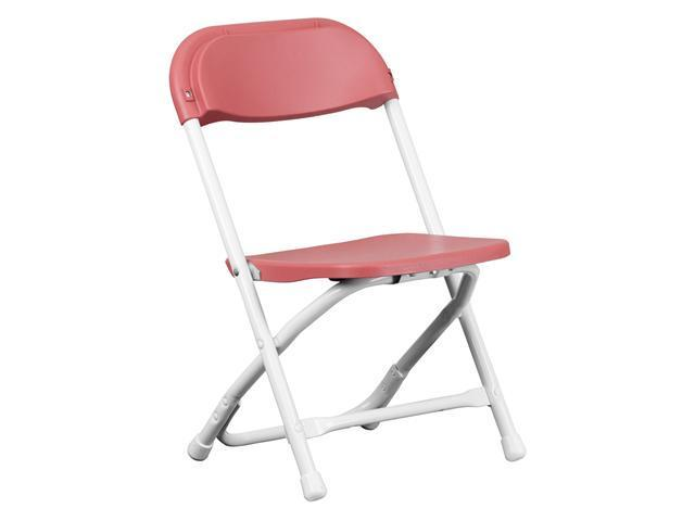 Flash Furniture Kids Burgundy Plastic Folding Chair [Y-KID-BY-GG]