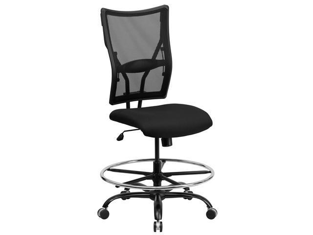 Flash Furniture HERCULES Series 400 Lb. Capacity Big & Tall Black Mesh Drafting Stool [WL-5029SYG-D-GG]