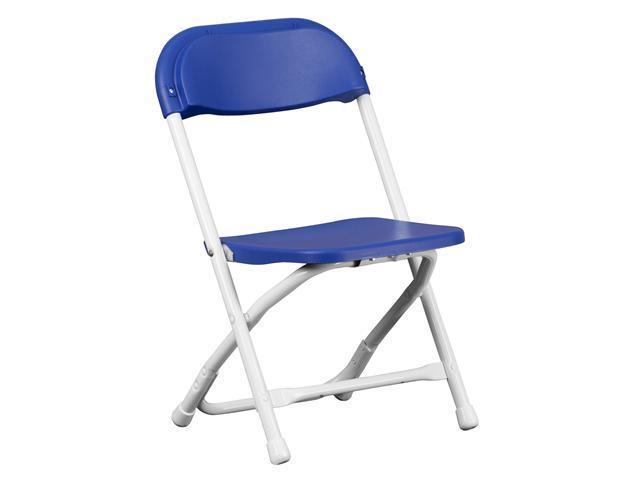 Flash Furniture Kids Blue Plastic Folding Chair [Y-KID-BL-GG]