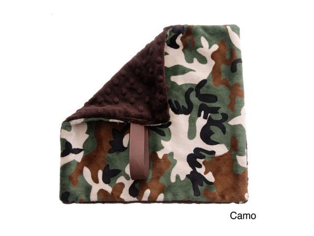BbEmerald Indoor Outdoor Travel Comfort Safety Newborn Infant Child Soft Baby Pacifier Blanket Camo