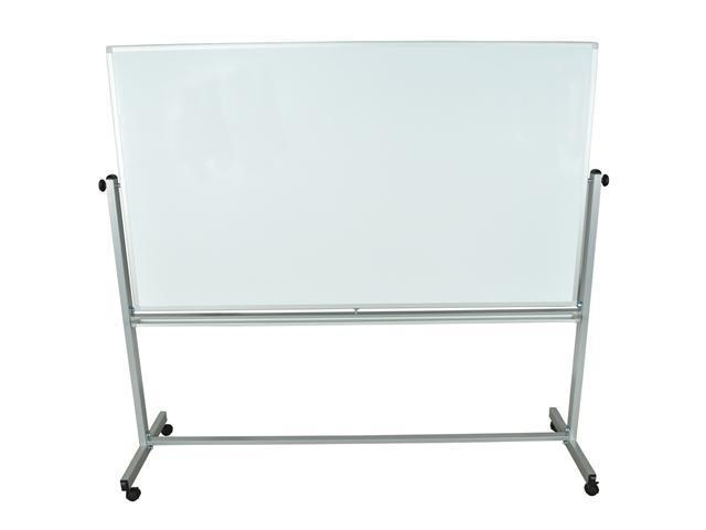 Offex Reversible Magnetic Mobile Whiteboard 72W X 40H