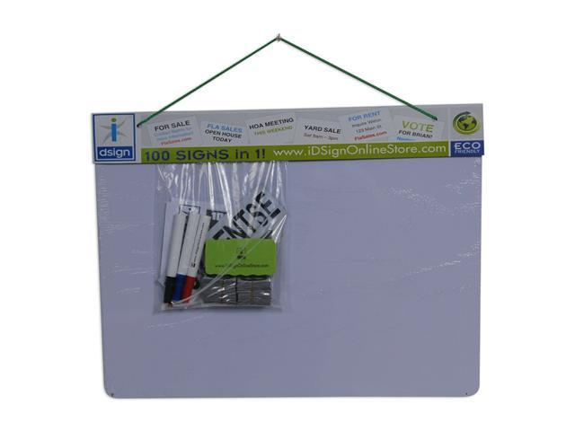 IDsign Reusable Dual-Sided Magnetic Dry Erase Outdoor Sign Kit