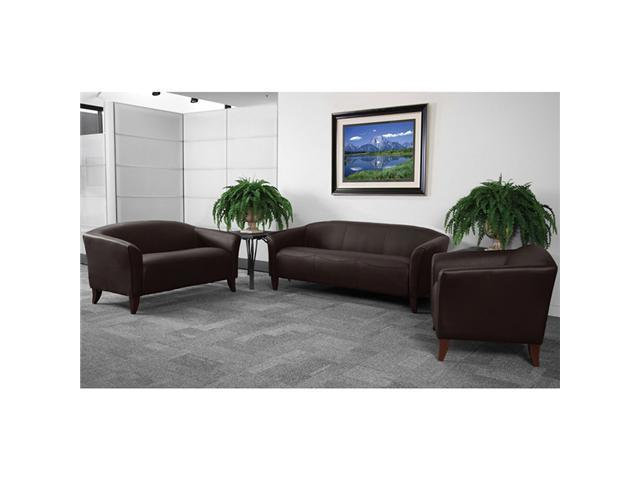 Flash Furniture Hercules Imperial Series Reception Seating Group Set in Brown [111-SET-BN-GG]