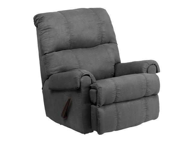 Flash Furniture Contemporary Flat suede Graphite Microfiber Rocker Recliner [WM-8700-113-GG]