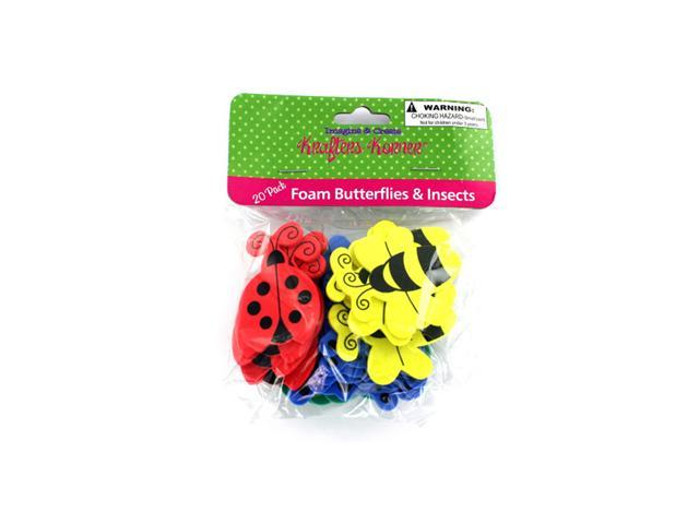 Krafters Korner Craft Foam Butterfly And Insect Shapes Pack Of 36 Scrapbooking Bulletin Board