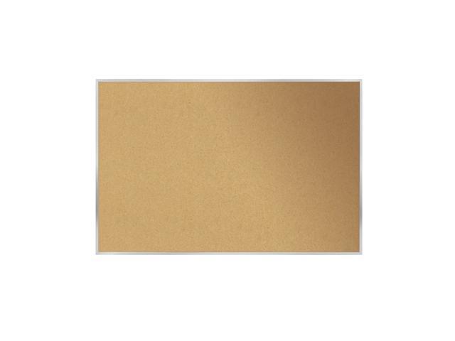 "Ghent 3x5 Aluminum Frame 1/2"" Premium Natural Cork Bulletin Board"