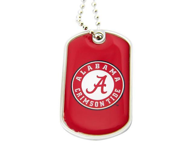 Alabama Crimson Tide A Dog Tag Necklace Charm Chain Ncaa