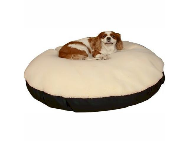 Snoozer SN-91408 Snoozer Round Sherpa Top Dog Bed - Extra Large-Olive